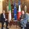 رئيس مجلس الأمة بالنيابة،  يتلقى اتصالا هاتفيا من السيد جيرار لارشير، رئيس مجلس الشيوخ الفرنسي