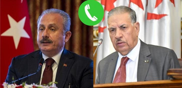 السيد صالح قوجيل، يتحادث مع السيد مصطفى شنطوب رئيس الجمعية الوطنية الكبرى للجمهورية التركية