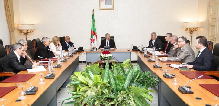 إجتماع مكتب مجلس الأمة الموسع لرؤساء المجموعات البرلمانية بتاريخ 23 فيفري 2020