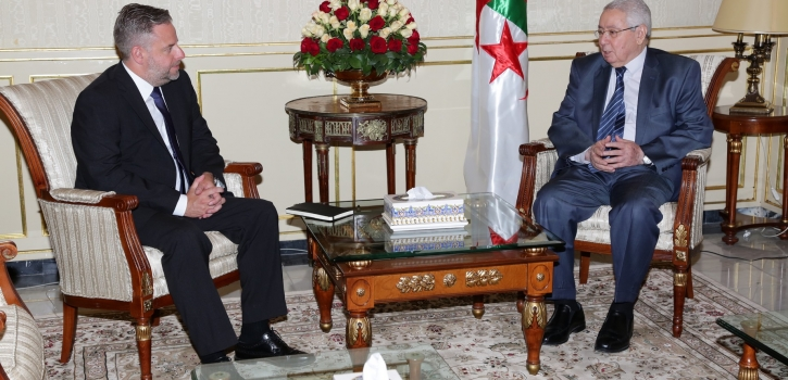 رئيس مجـلس الأمـة يستقـبل سفير بلجيكا بالجزائر