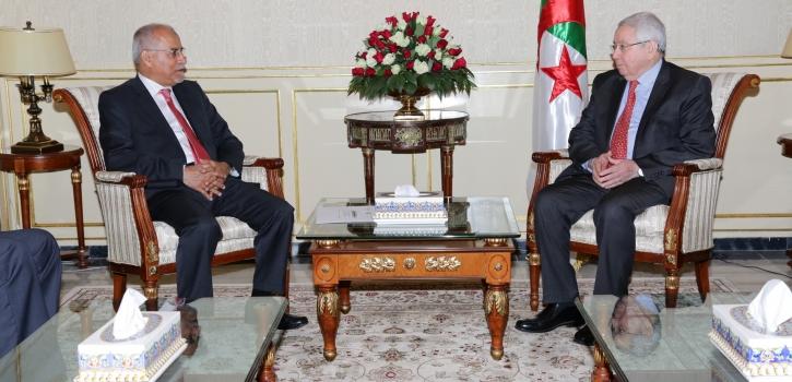 رئيس مجـلس الأمـة يستقـبل سفير اليمن بالجزائر