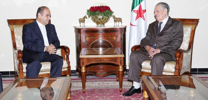 رئيـس مجلــس الأمّـة بالنيابة  يستقبـل السفير  الجديد للجمهوريـة الإسلامية الإيرانية بالجزائر