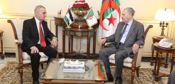 رئيس مجلس الأمة يستقبل سعادة سفير دولة فلسطين بالجزائر