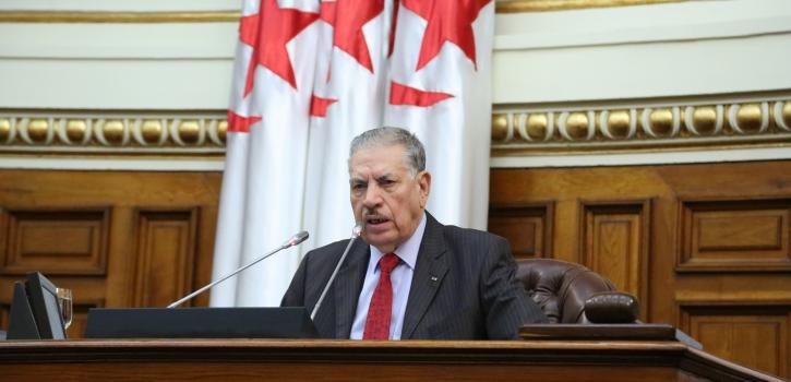 رئيس مجلس الأمة بالنيابة يعزي عائلة المرحوم المجاهد عمر بوداود