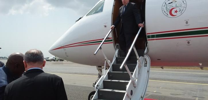 رئيس مجلس الأمة يحل بمونروفيا للمشاركة في مراسيم تنصيب الرئيس الليبيري الجديد