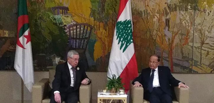 رئيس مجلس الأمة يتباحث مع الرئيس اللبناني العماد ميشال عون