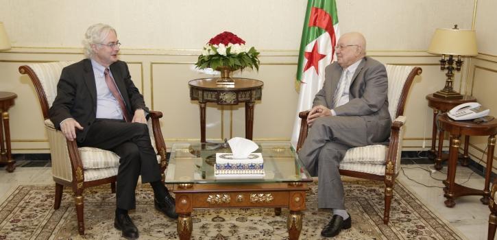 العلاقات الجزائرية الالمانية محور لقاء رئيس مجلس الامة بسفير المانيا بالجزائر