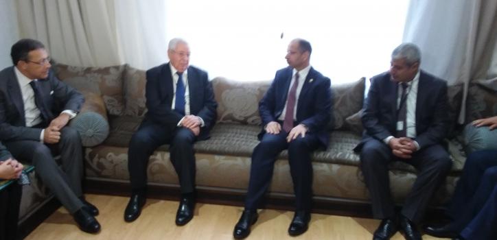 محادثات السيد عبد القادر بن صالح على هامش قمة رؤساء المجالس البرلمانية العربية