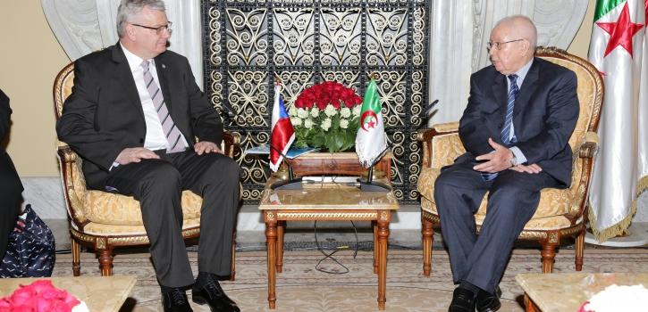 رئيس مجلس الأمة يستقبل نائب رئيس مجلس الشيوخ التشيكي