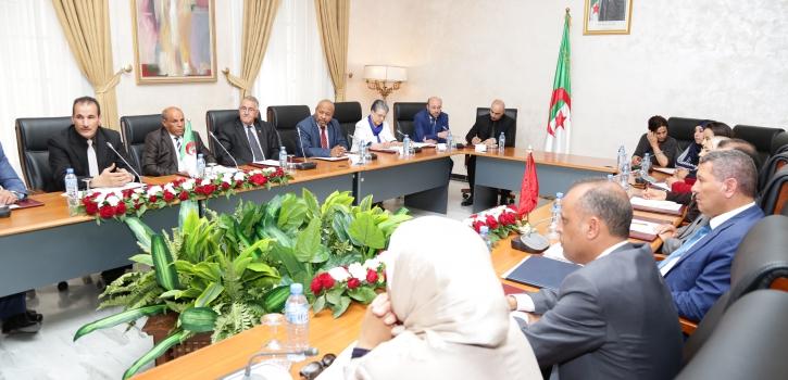 لجنتا الفلاحة و الثقافة بمجلس الأمة تعقدان لقاءا مع وفد برلماني تونسي