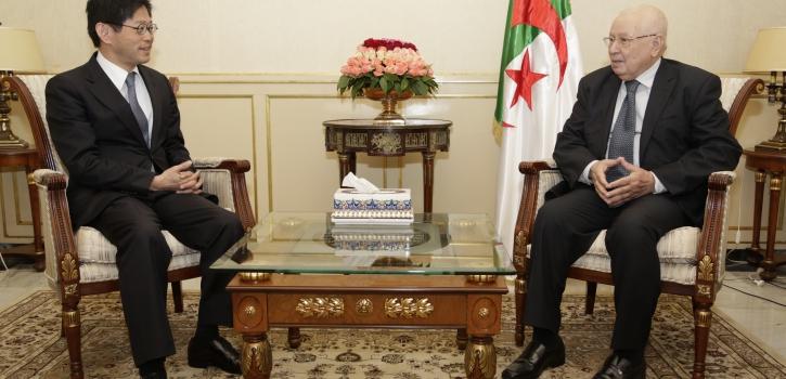 رئيس مجلس الأمة يستقبل سفير اليابان في الجزائر