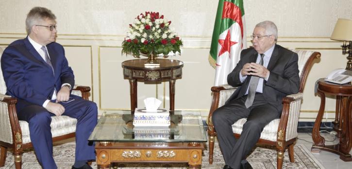 السيد عبد القادر بن صالح يستقبل سفير روسيا