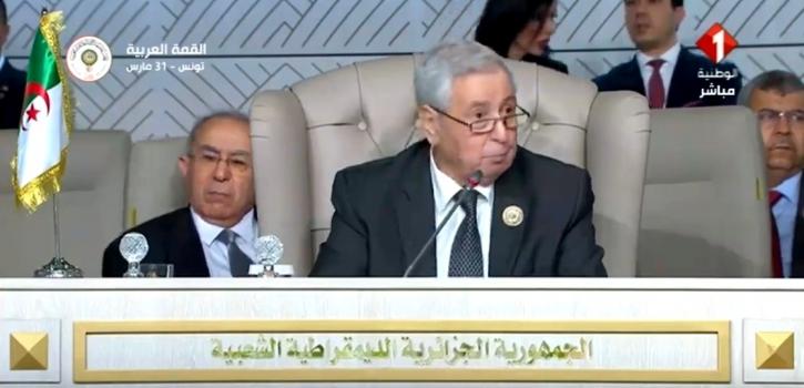كلمة رئيس مجلس الأمة في أشغال الدورة العادية الـ 30 لمجلس جامعة الدول العربية على مستوى القمة