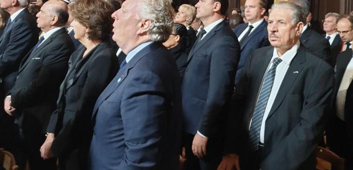 رئيس مجلس الأمة بالنيابة يشارك في مراسيم تأبينية الرئيس الفرنسي الأسبق جاك شيراك